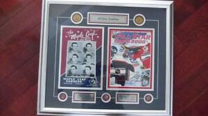 2000-TORONTO MAPLE LEAFS-ALL STAR TRADITION -AUTOGRAPHED-FRAMED.
