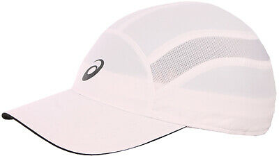 sports shoes 438d9 012d4 Asics Essentials Running Cap White Breathable Moisture Wicking Summer Sports  Hat