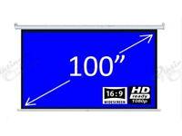 "Electric Projector Screen - 100"" Matt White 16:9"