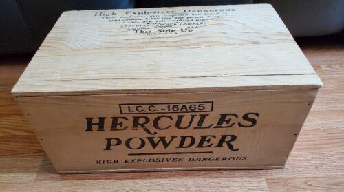 AMAZING Vintage Hercules Powder Crate w/ Lid-Mint & Unused!