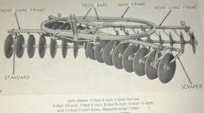 John Deere Y Disk Harrow Parts Catalog Manual Book Original Jd Pc-1035