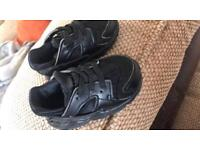 Baby black huaraches size 3.5