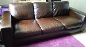 Leather sofas; quality leather.Large 3 & 2 seaters.