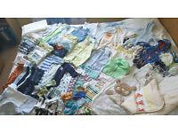 Bundle of baby boy clothes 0-3 mths