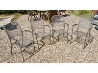 Bistro Style Metal Garden/Patio Chairs - TWO REMAINING