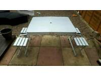Folding briefcase style picnic table and chairs