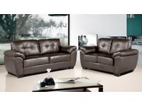 3+2 seater brand new leather sofas Next day free delivery