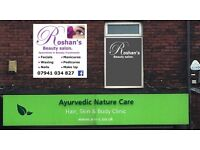 We offer all kind of beauty treatments and services at roshanz beauty and massage in whitefield