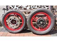 Kawasaki GPZ500S - Front & Rear Wheels