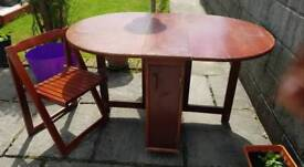Butterfly folding table and chairs