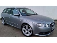 2007 AUDI A4 S-LINE 2.0 TDI ESTATE **SAT NAVIGATION** PARKING SENSORS (PART EX WELCOME)