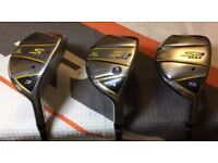 Right Handed Cobra S3 Max Hybrids (3, 4 & 5) Graphite R-Flex Shaft with Head Covers