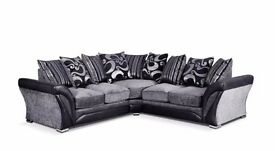 Suzie Fabric Suite In Bonded Leather & Deluxe Chenile £399 For 3&2 Or Corner FREE DELIVERY !!!