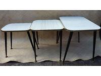 1950's Nest of Three Tables, Vintage, Retro.
