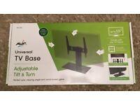 NEW AVF Universal tilt and turn TV stand RRP £60