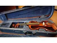 Carlo Giordano Silenzia EV-201 4/4 electric violin, barely used, with rosin