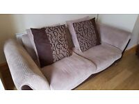 3 seater sofa, armchair and pouffe