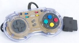 A SNES Super Nintendo Clear Pal SN PRO PAD CONTROLLER - Used