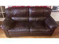 2 And 3 Seat Leather Sofa Recliner.