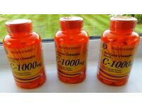 3 bottles of Holland & Barrett Chewable Vitamin C-1000mg tablets, brand new and un-opened.