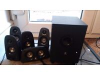 Logitech Z506 Speaker System - 5.1 - 75W RMS. Really good price. As brand new.