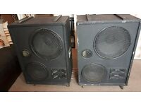 "Large PA speakers with Celestion Drivers (15"" and 12"") going cheap"