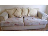 Cream Patterned Sofa