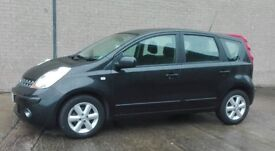 Black Nissan Note 1.4 petrol, perfect condition, 2 lady owners