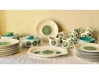 Vintage J&G Meakin COMPLETE Dining Set, Aztec Design