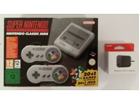 Nintendo SNES Classic Mini Super Nintendo and Nintendo USB AC Adapter