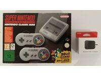 Nintendo SNES Classic Mini Super Nintendo and Nintendo USB AC Adapter - New and Unused