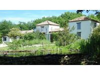 SW France Beautiful Off grid house plus gite and 10 acres for sale