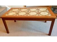 Free Wood and Ceramic Topped Coffee Table