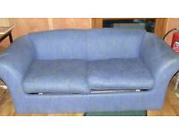 FREE FREE FREE SOFA BED IN BLUE OK CONDITION