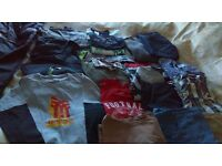 Bundle of boys clothes..at least 18 items..suit 10-12y