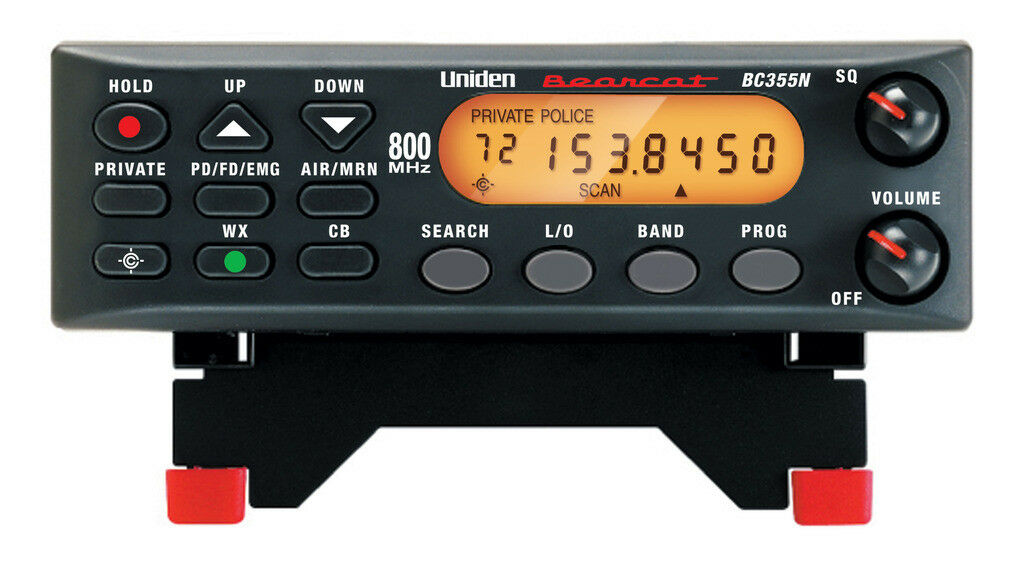 Uniden BC355N Bearcat 800 MHZ Base Mobile Police Fire Weathe