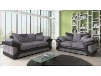 Dino black and grey sofa set