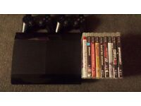 PS3 SuperSlim + 9 games + 2 controlers 99£