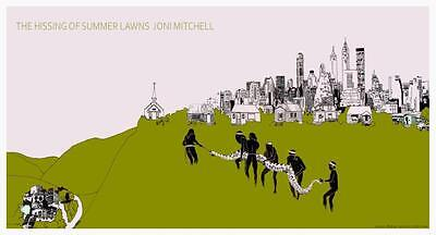 Joni Mitchell ** POSTER ** the Hissing of Summer Lawns AMAZING IMAGE & COLORS