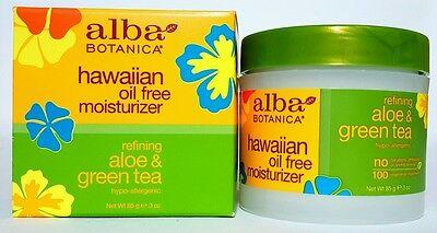 Tea Oil Free Moisturizer (Alba Botanica Hawaiian Oil Free Moisturizer - Refining Aloe & Green Tea 3 oz)
