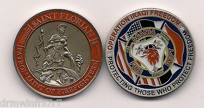 "O.I.F. - Scania  Fire - Rescue  ""Protect Freedom""   fire challenge coin (patch)"