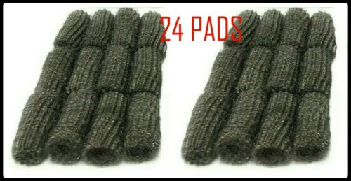"""24 Pad #0 Med Steel Wool 2.5 """"X1""""Kitchen Bath Grill Wire Clean Scouring Shine"""