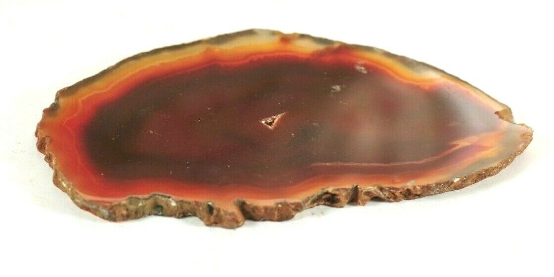POLISHED BROWN AGATE SLICE -  63.84 gms 11 x 6 cms