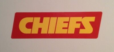 """Kansas City Chiefs FATHEAD Official Team Graphic Sign 12.5""""x3.75"""" NFL Wall Decal"""