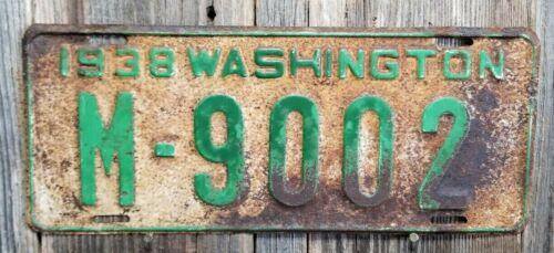 🐾  1938 WASHINGTON LICENSE PLATE