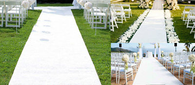 Wedding Runner - White Wedding Carpet Aisle Runner Floor Marriage Ceremony Bride Event 5 Sizes