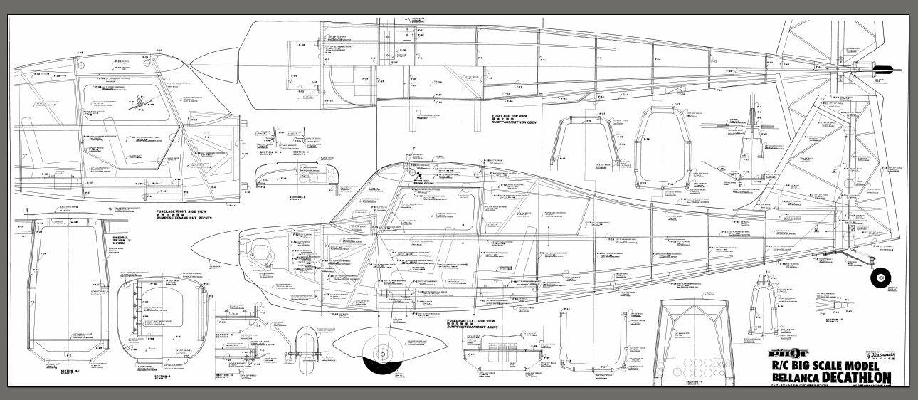 1 4 Scale Bellanca Decathlon Giant Scale Rc Model Airplane