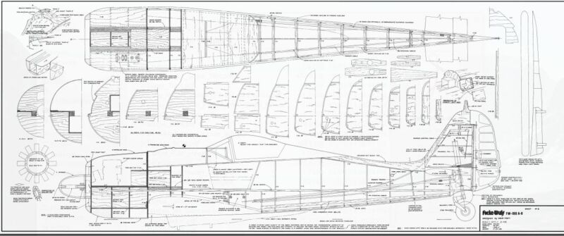 чертежи fw 190 заводские подробные
