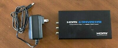 Powered AV RCA or S-Video  to HDMI Converter Box 1080P/720P Upscaler