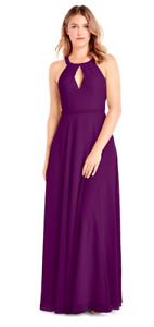 Grape colored bridesmaid/graduation dress